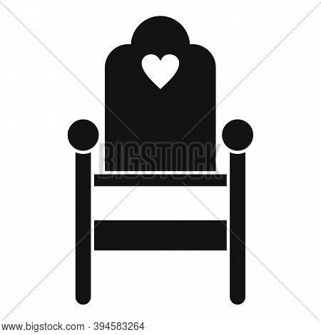 Wood Feeding Chair Icon. Simple Illustration Of Wood Feeding Chair Vector Icon For Web Design Isolat