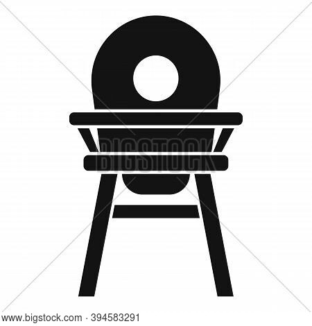 Childcare Feeding Chair Icon. Simple Illustration Of Childcare Feeding Chair Vector Icon For Web Des