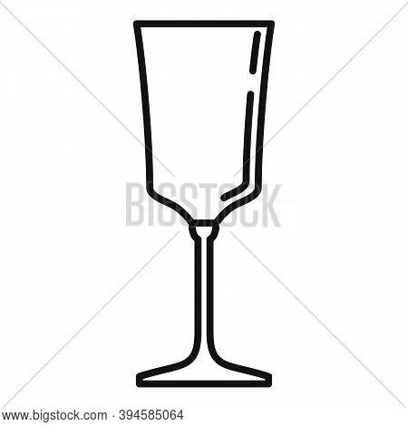Wine Glassware Icon. Outline Wine Glassware Vector Icon For Web Design Isolated On White Background