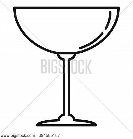 Goblet Wineglass Icon. Outline Goblet Wineglass Vector Icon For Web Design Isolated On White Backgro