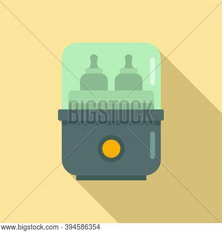 Medical Bottle Sterilizer Icon. Flat Illustration Of Medical Bottle Sterilizer Vector Icon For Web D