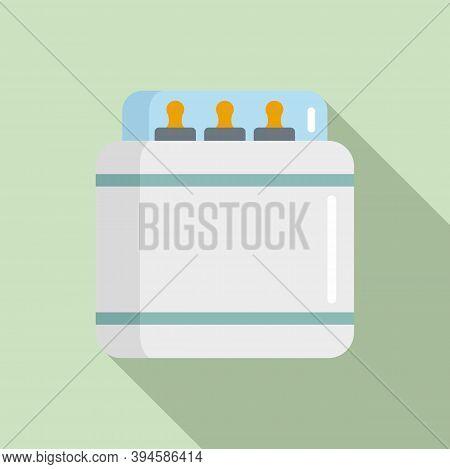 Sterilization Milk Bottle Icon. Flat Illustration Of Sterilization Milk Bottle Vector Icon For Web D