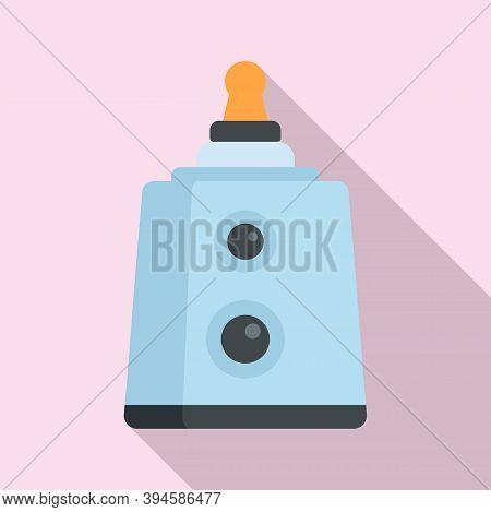 Sterilization Baby Nipple Icon. Flat Illustration Of Sterilization Baby Nipple Vector Icon For Web D