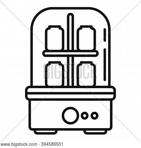 Bottle Sterilizer Icon. Outline Bottle Sterilizer Vector Icon For Web Design Isolated On White Backg