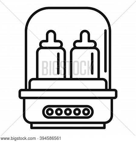 Healthy Bottle Sterilizer Icon. Outline Healthy Bottle Sterilizer Vector Icon For Web Design Isolate