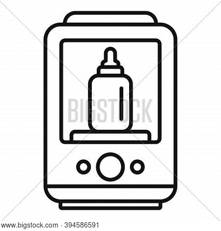One Bottle Sterilizer Icon. Outline One Bottle Sterilizer Vector Icon For Web Design Isolated On Whi