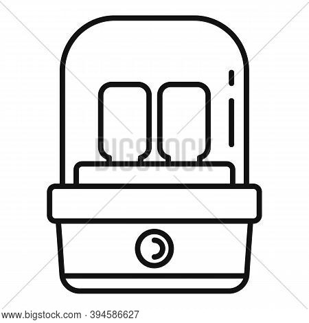 Milk Bottle Sterilizer Icon. Outline Milk Bottle Sterilizer Vector Icon For Web Design Isolated On W