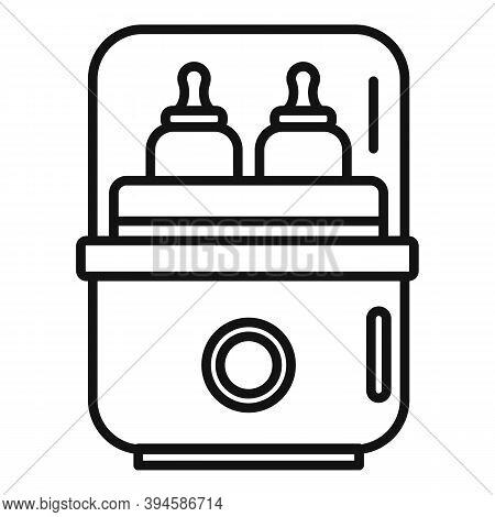 Medical Bottle Sterilizer Icon. Outline Medical Bottle Sterilizer Vector Icon For Web Design Isolate