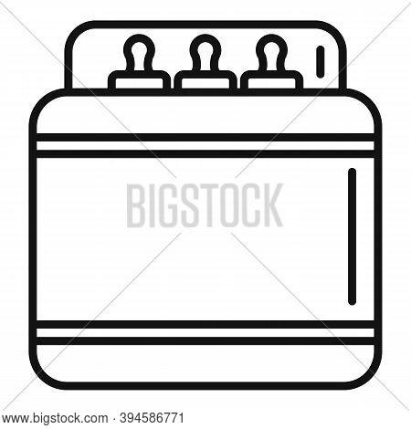 Sterilization Milk Bottle Icon. Outline Sterilization Milk Bottle Vector Icon For Web Design Isolate