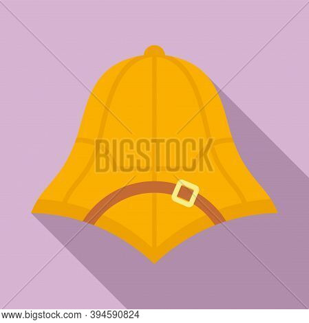 Safari Hunter Hat Icon. Flat Illustration Of Safari Hunter Hat Vector Icon For Web Design