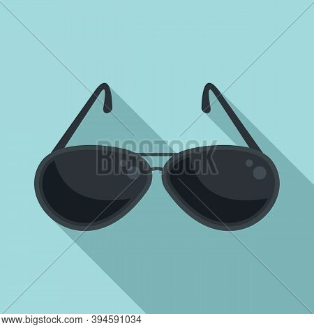 Hunter Sunglasses Icon. Flat Illustration Of Hunter Sunglasses Vector Icon For Web Design
