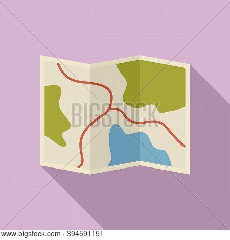 Safari Hunting Map Icon. Flat Illustration Of Safari Hunting Map Vector Icon For Web Design