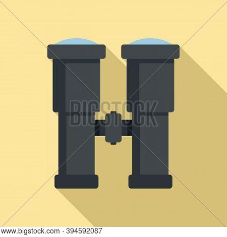 Safari Hunting Binoculars Icon. Flat Illustration Of Safari Hunting Binoculars Vector Icon For Web D