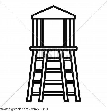 Safari Hunter Tower Icon. Outline Safari Hunter Tower Vector Icon For Web Design Isolated On White B