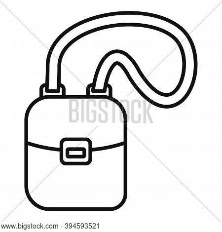 Hunter Safari Bag Icon. Outline Hunter Safari Bag Vector Icon For Web Design Isolated On White Backg
