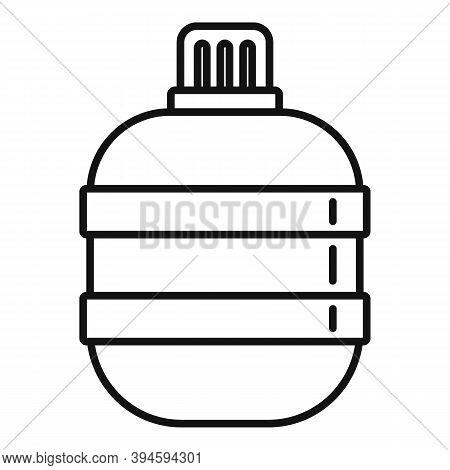 Safari Hunting Water Flask Icon. Outline Safari Hunting Water Flask Vector Icon For Web Design Isola