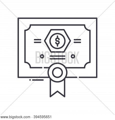 Bonds Icon, Linear Isolated Illustration, Thin Line Vector, Web Design Sign, Outline Concept Symbol