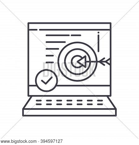 Business Accuracy Icon, Linear Isolated Illustration, Thin Line Vector, Web Design Sign, Outline Con