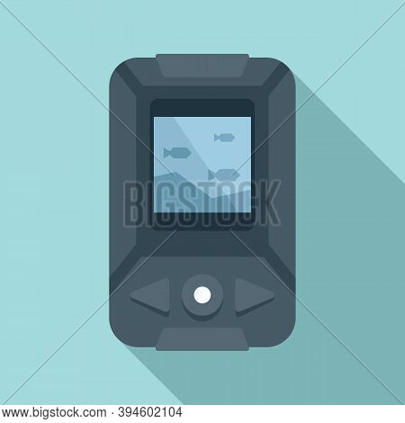 Echo Sounder Boat Icon. Flat Illustration Of Echo Sounder Boat Vector Icon For Web Design