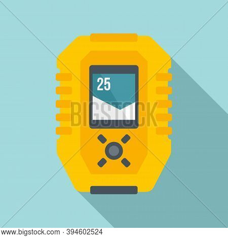 Echo Sounder Gadget Icon. Flat Illustration Of Echo Sounder Gadget Vector Icon For Web Design