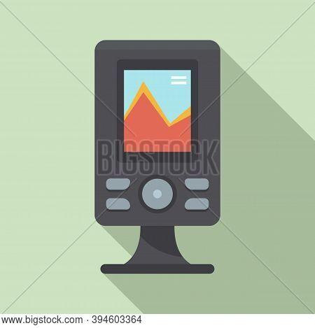 Fishfinder Echo Sounder Icon. Flat Illustration Of Fishfinder Echo Sounder Vector Icon For Web Desig