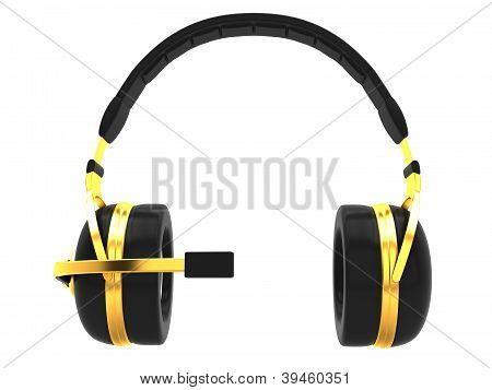 Headphones with microphone