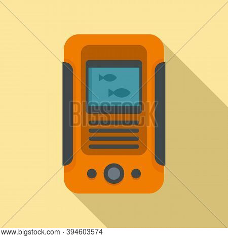 Water Echo Sounder Icon. Flat Illustration Of Water Echo Sounder Vector Icon For Web Design