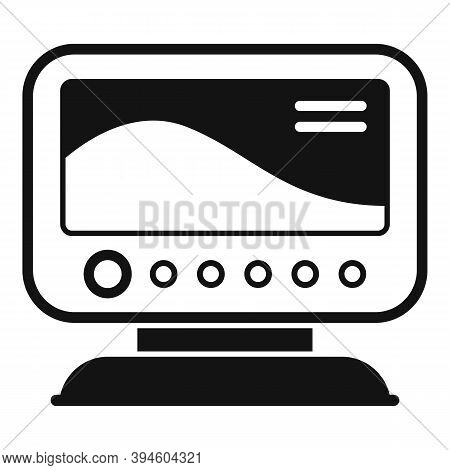 Diving Echo Sounder Icon. Simple Illustration Of Diving Echo Sounder Vector Icon For Web Design Isol