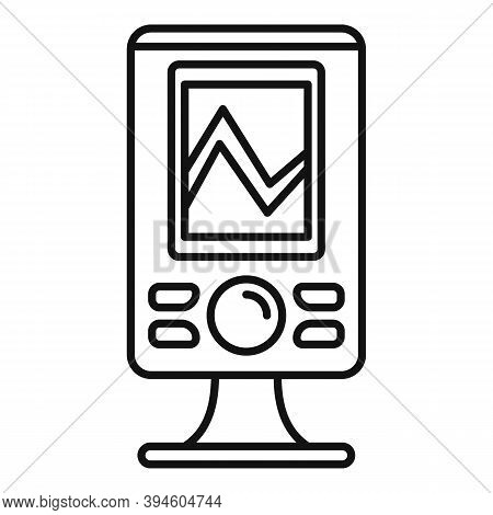 Echo Sounder Icon. Outline Echo Sounder Vector Icon For Web Design Isolated On White Background