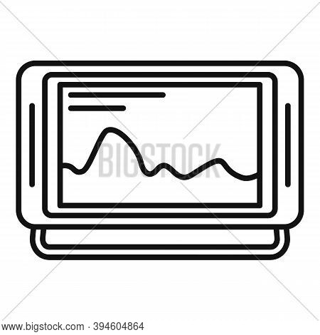 Echo Sounder Boat Icon. Outline Echo Sounder Boat Vector Icon For Web Design Isolated On White Backg