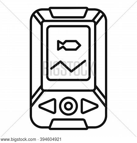 Echo Sounder Fish Catch Icon. Outline Echo Sounder Fish Catch Vector Icon For Web Design Isolated On