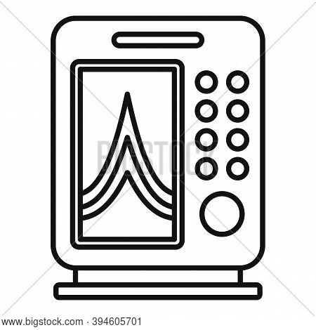 Instrument Echo Sounder Icon. Outline Instrument Echo Sounder Vector Icon For Web Design Isolated On