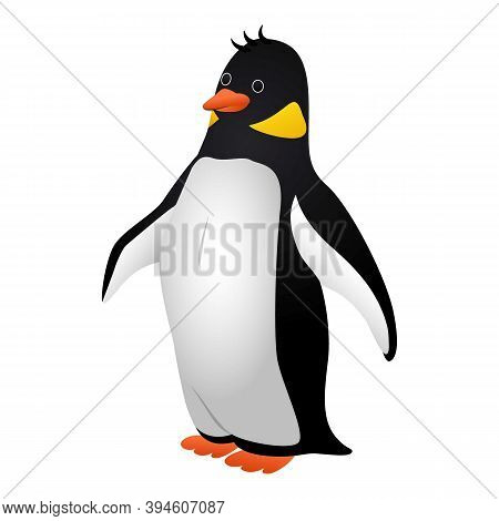 Proud Penguin Icon. Cartoon Of Proud Penguin Vector Icon For Web Design Isolated On White Background