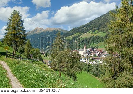 Footpath To Village Of Neustift Im Stubaital,tirol,austria
