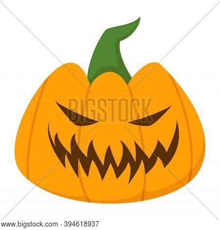 Happy Halloween Pumpkin Vector Isolated. Funny Holiday