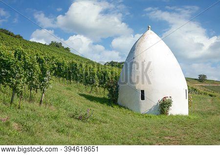 Trullo In Vineyard Landscape In Rhinehessen Wine Region,germany