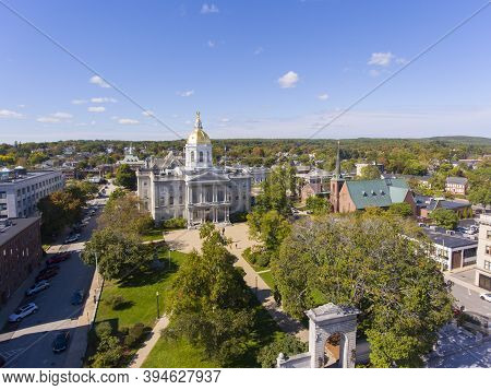 New Hampshire State House Aerial View, Concord, New Hampshire Nh, Usa. New Hampshire State House Is