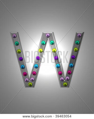 Alphabet Metal Marquee Ww
