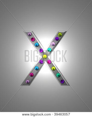 Alphabet Metal Marquee Xx