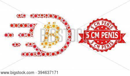 Vector Mosaic Bitcoin Of Flu Virus, And 5 Cm Penis Dirty Ribbon Stamp. Virus Elements Inside Bitcoin