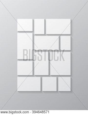Vector Empty Collage Twelve Frames, Images Photo
