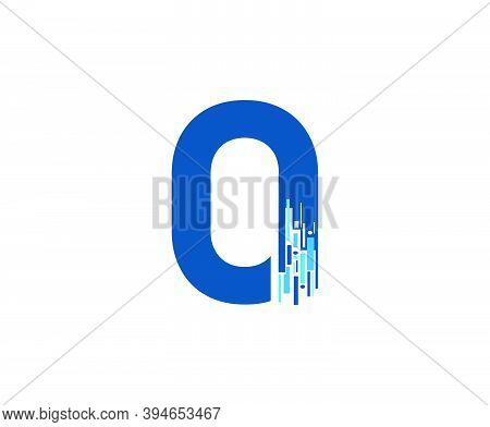 Letter O Digital Network , Technology And Digital Abstract Line O Network Circuit Vector Logo. .