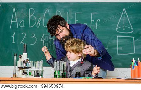 Chemistry Lesson. Lab Experiment. Primary School. Basic Education. Childhood Upbringing And Educatio