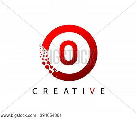 Circle O Letter Digital Network , Abstract O Dotted Logo Design.