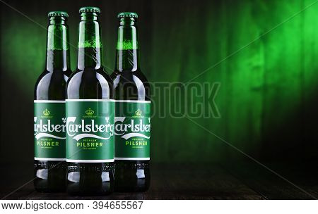 Composition With Three Bottles Of Carlsberg Beer