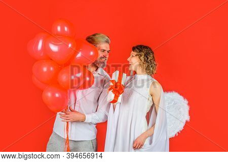 Couple Of Cupids In Valentine Day. Valentines Day. Couple Of Cupids. Valentine Day. Lovely Valentine