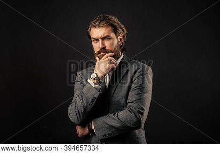 Perfect Outfit. Stylish Mature Man Looking Modern. Mens Office Wardrobe. Fashionable Man Wear Hand W