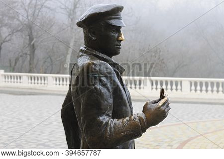 Enter To Proval Lake And Monument To Ostap Bender. Pyatigorsk, Russian Federation 28 Oct 2012