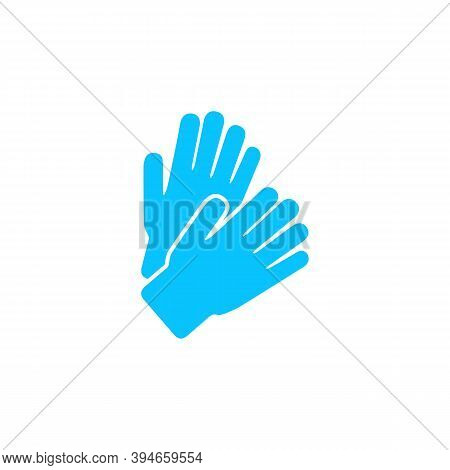 Applause Icon Flat. Blue Pictogram On White Background. Vector Illustration Symbol