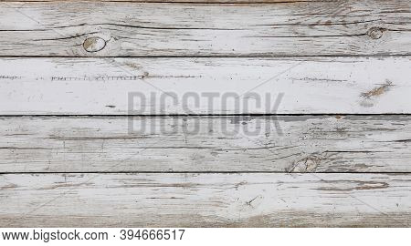 Vector Illustration Background Texture Of Old Vintage Weathered White Painted Grunge Wooden Planks W